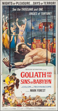"Movie Posters:Adventure, Goliath and the Sins of Babylon (American International, 1964).Three Sheet (41"" X 80""). Adventure.. ..."