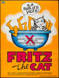 """Movie Posters:Animation, Fritz the Cat (CFDC, 1972). French Grande (46"""" X 61.5""""). Animation.. ..."""