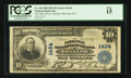 National Bank Notes:West Virginia, Wheeling, WV - $10 1902 Plain Back Fr. 624 The NB of West VirginiaCh. # 1424. ...