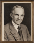 Autographs:Inventors, Henry Ford Photograph Signed....
