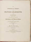 Books:Literature Pre-1900, [Oliver Goldsmith]. The Poetical Works of Oliver Goldsmith. WithRemarks, Attempting to Ascertain, Chiefly From Local Ob...