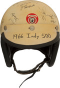 Miscellaneous Collectibles:General, 1966 Indianapolis 500 Multi Signed Race Helmet....
