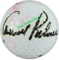 Golf Collectibles:Autographs, Arnold Palmer Single Signed Golf Ball....