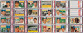 Baseball Cards:Sets, 1956 Topps Baseball PSA Graded Complete Set (340) Plus BothChecklists! ...
