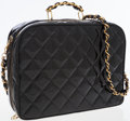 Luxury Accessories:Travel/Trunks, Chanel Black Patent Leather Vintage Travel Case Bag. ...
