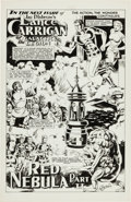Original Comic Art:Splash Pages, Jay Disbrow Lance Carrigan of the Galactic Legion SplashPage (c. 1980s)....