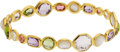 Estate Jewelry:Bracelets, A MULTI-STONE, GOLD BRACELET, IPPOLITA. The bracelet featuresfaceted amethyst, peridot, pink tourmaline, rock crystal and m...