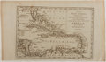 """Books:Maps & Atlases, [Antique Map] Engraved Map of """"The West Indies, Exhibiting the English French Spanish Dutch & Danish Settlements With the Adja..."""