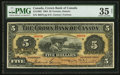 World Paper Money: , Toronto, ON- The Crown Bank of Canada $5 June 1, 1904 Ch. # 215-10-02. ...