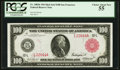 Large Size:Federal Reserve Notes, Fr. 1083b $100 1914 Red Seal Federal Reserve Note PCGS Choice About New 55.. ...