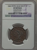 Large Cents: , 1843 1C Petite Head, Small Letters -- Scratches -- NGC Details. XF.NGC Census: (13/175). PCGS Population (9/123). Mintage:...