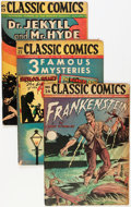 Golden Age (1938-1955):Classics Illustrated, Classic Comics Group (Gilberton, 1946).... (Total: 7 Comic Books)