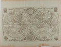 """Books:Maps & Atlases, [Antique Map] """"The World, Including the Late Discoveries, by Capt.Cook and Other Circum Navigators"""". 19"""" x 14.75"""" overall. ..."""