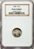 Proof Three Cent Nickels: , 1889 3CN PR66 Cameo NGC. NGC Census: (20/11). PCGS Population(38/19). ...