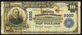 National Bank Notes:Virginia, Portsmouth, VA - $10 1902 Plain Back Fr. 626 The First NB Ch. #9300. ...