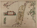 """Books:Maps & Atlases, [Antique Map] """"Iura Insula - The Yle of Iura One of the WesterneIles of Scotland"""". 21.75"""" x 17.5"""" overall. Created by the B..."""
