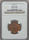 Two Cent Pieces: , 1865 2C MS64 Red and Brown NGC. NGC Census: (351/418). PCGSPopulation (617/286). Mintage: 13,640,000. Numismedia Wsl. Pric...