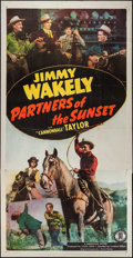 "Movie Posters:Western, Partners of the Sunset (Monogram, 1948). Three Sheet (41"" X 79"").Western.. ..."