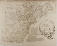 """[Antique Map] """"North America Performed Under the Patronage of Louis Duke of Orleans First Prince of the Blood""""..."""