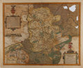 "Books:Maps & Atlases, [Antique Map] ""Limburgensis Ducatus Tablula Nova"" (Netherlands). 20.5"" x 17"" overall. Created by Abraham Ortelius, circa 160..."