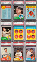 Baseball Cards:Lots, 1963 Topps Baseball PSA Graded Collection (21) With Many Stars. ...