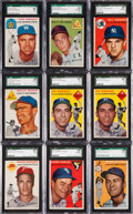 Baseball Cards:Lots, 1954 Topps Baseball SGC Graded Collection (23). ...