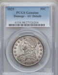 Bust Half Dollars: , 1829 50C Small Letters -- Damaged -- PCGS Genuine. AU Details. NGCCensus: (70/753). PCGS Population (145/697). Mintage: 3,...