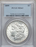 Morgan Dollars: , 1899 $1 MS63 PCGS. PCGS Population (3573/5024). NGC Census:(2599/3499). Mintage: 330,846. Numismedia Wsl. Price for proble...