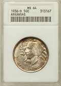 Commemorative Silver: , 1936-D 50C Arkansas MS64 ANACS. NGC Census: (359/426). PCGSPopulation (586/653). Mintage: 9,660. Numismedia Wsl. Price for...