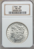 Morgan Dollars: , 1899 $1 MS62 NGC. NGC Census: (1105/6098). PCGS Population(1327/8597). Mintage: 330,846. Numismedia Wsl. Price for problem...