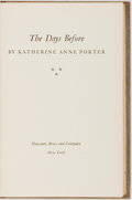 Books:First Editions, Katherine Anne Porter. The Days Before. New York: Harcourt,Brace and Co., 1952. First edition, first printing. Publ...