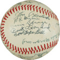 Autographs:Baseballs, Circa 1970 Hall of Famers Multi-Signed Baseball....