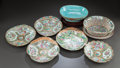 Asian:China Trade, A GROUP OF EIGHT CHINESE FAMILLE ROSE PORCELAIN DISHES. 19th/20thcenturies. Marks: various marks. 3-1/4 x 10 x 9 inches (8....(Total: 8 Items)