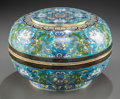Asian:Chinese, A LARGE CHINESE CLOISONNÉ ENAMEL COVERED BOWL. Early 20th century.Marks: (chop marks). 8 inches high x 12-1/4 inches diamet...