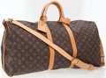 Luxury Accessories:Bags, Louis Vuitton Classic Monogram Canvas Keepall 55 WeekenderOvernight Bag with Shoulder Strap. ...