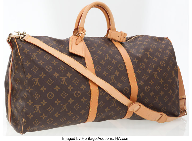 29d2ace8f ... Luxury Accessories:Bags, Louis Vuitton Classic Monogram Canvas Keepall  55 WeekenderOvernight Bag with Shoulder ...