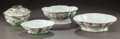 Asian:China Trade, FOUR CHINESE FAMILLE ROSE AND FAMILLE VERTE PORCELAIN BOWLS.19th/20th centuries. Marks: various marks. 5-3/4 inches high x ...(Total: 4 Items)