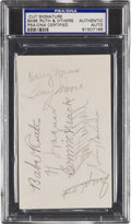 Autographs:Others, 1930's Babe Ruth, Honus Wagner & More Signed Page....