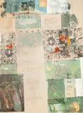 Prints, ROBERT RAUSCHENBERG (American, 1925-2008). Deposit, 1975. Color offset lithograph with hand-coloring. 30 x 22 inches (76...