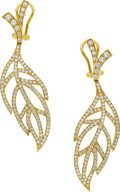 Estate Jewelry:Earrings, Luca Carati Diamond, Gold Earrings. ...