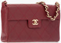 Luxury Accessories:Accessories, Chanel Burgundy Caviar Leather Flap Bag with Gold Hardware . ...