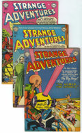 Golden Age (1938-1955):Science Fiction, Strange Adventures #31-33 and 42 Group (DC, 1953-54) Condition:Average VG+.... (Total: 4 Comic Books)