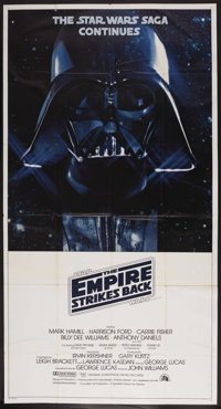 "The Empire Strikes Back (20th Century Fox, 1980). International Three Sheet (41"" X 76""). Science Fiction"