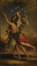 Fine Art - Painting, European:Antique  (Pre 1900), ALFRED JOSEPH WOOLMER (British 1805-1892). Allegory ofSummer. Oil on canvas. 12-1/2 x 7-1/2 inches (31.8 x 19.1 cm).Si...