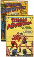 Golden Age (1938-1955):Science Fiction, Strange Adventures #39 and 43 Group (DC, 1953-54) Condition:Average FN-.... (Total: 2 Comic Books)
