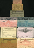 Expositions and Fairs, Louisiana Purchase Group Lot of Unlisted Admission Tickets....(Total: 9 pieces)