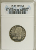 Bust Quarters: , 1831 25C Small Letters--Cleaned, Scratched--ANACS. VF20 Details. B-2. NGC Census: (3/386). PCGS Population (9/340). Mintage...
