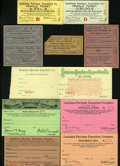 Expositions and Fairs, Louisiana Purchase 1903-04 Unlisted Admission Tickets.... (Total: 10 pieces)