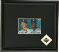 1994 Upper Deck Signed Mickey Mantle and Ken Griffey, Jr. Card. The UDA-authenticated card that we see here places the c...