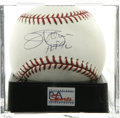 "Autographs:Baseballs, Jim Palmer HOF 90"" Single Signed Baseball, PSA Mint+ 9.5. Playingin three decades for the Orioles, Jim Palmer became a part..."